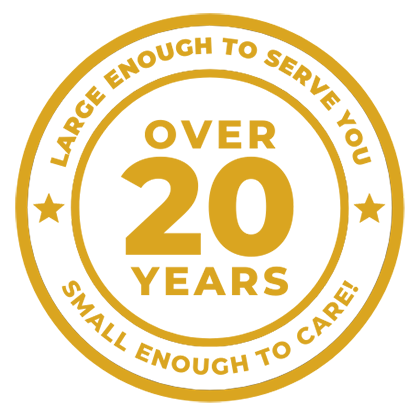 20 year anniversary badge